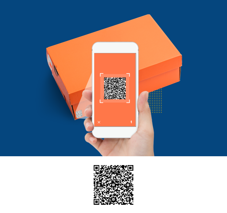 QR code on product packaging