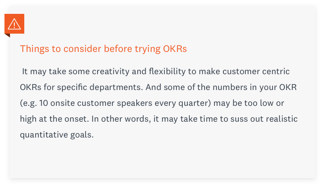 What to consider before trying OKRs.