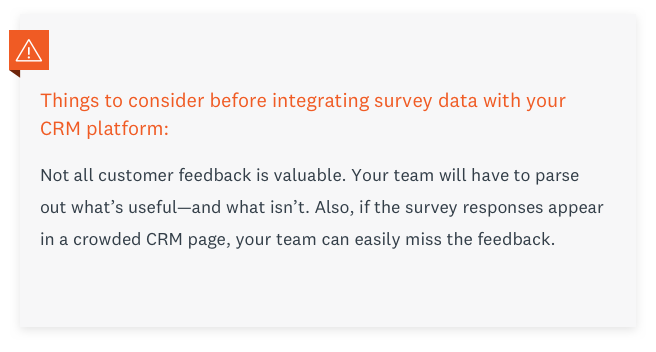 Things to consider before integrating survey data with your CRM platform