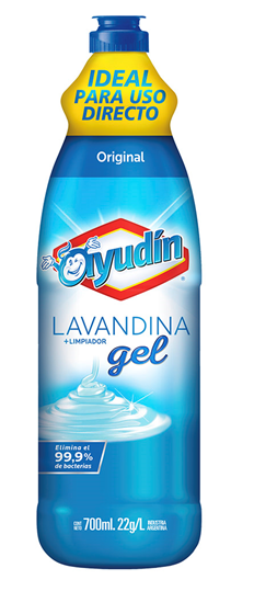 Clorox gel with marketing claims for Argentina