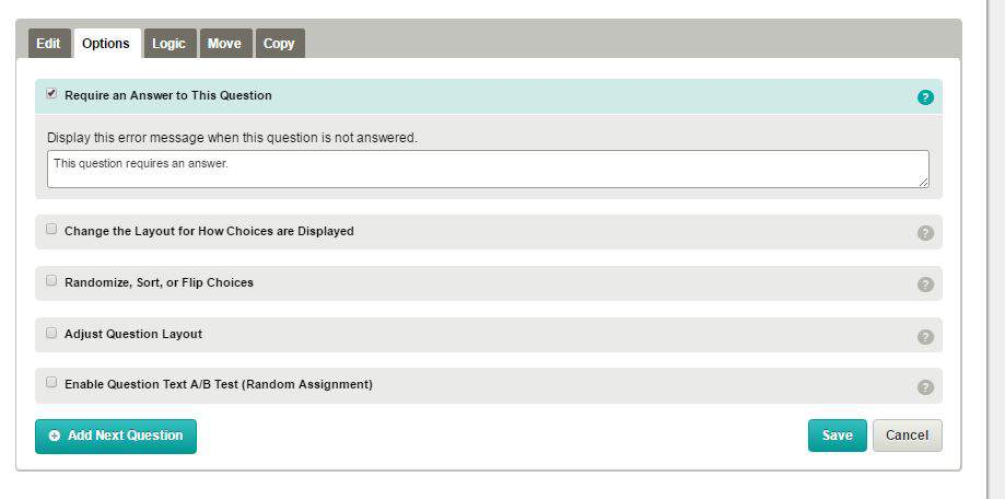 Screenshot of required answers