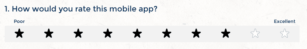 Star rating question