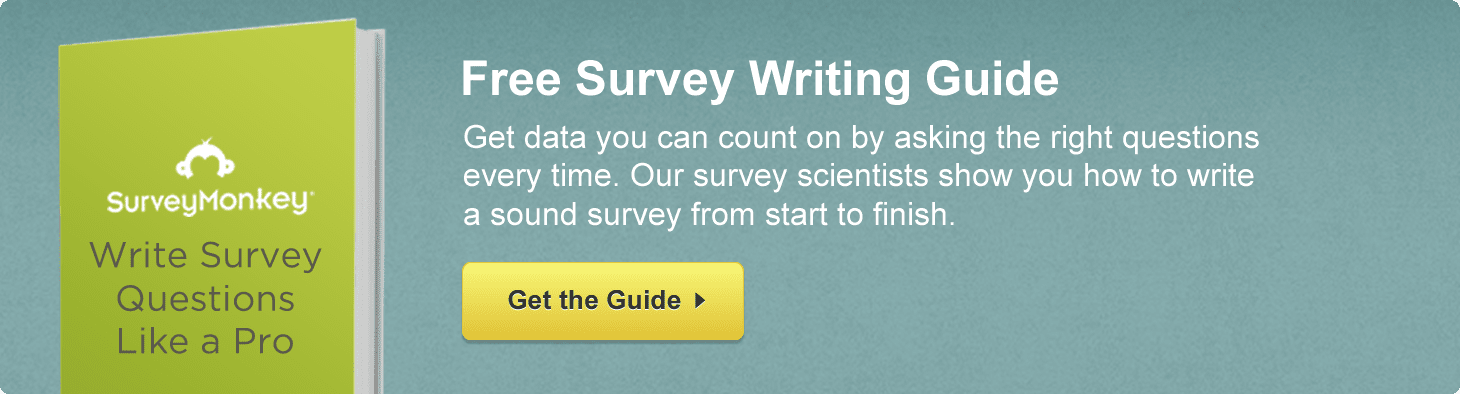 Get the Free Survey Writing Guide from SurveyMonkey!